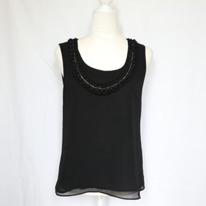 Dana Buchman Black Sleeveless Tank Blouse Small